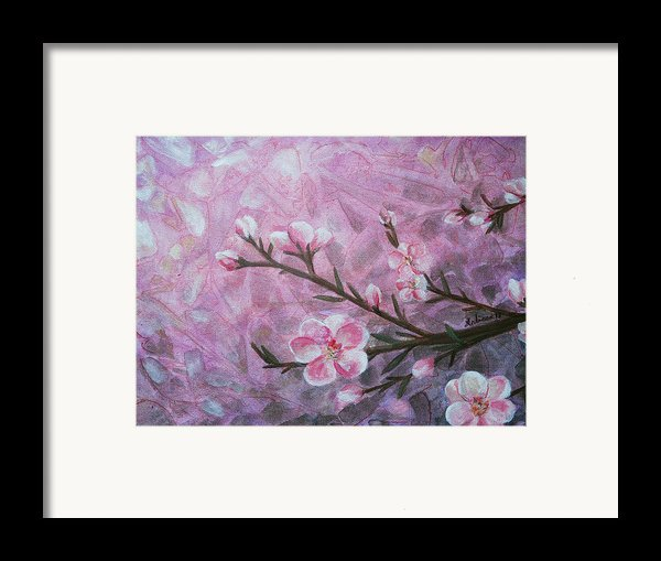 Snow Blossom Framed Print By Arlissa Vaughn