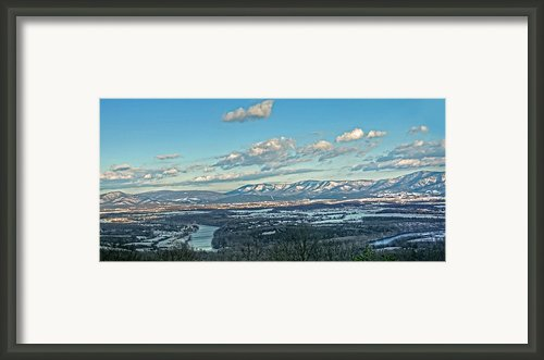 Snow Covered Blue Ridge Framed Print By Lara Ellis
