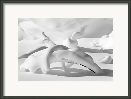 Snow Drift Fantasy Black And White Framed Print By Terril Heilman
