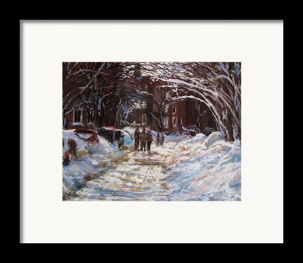 Snow In The City Framed Print By Jack Skinner