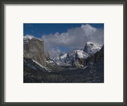 Snow Kissed Valley Framed Print By Bill Gallagher