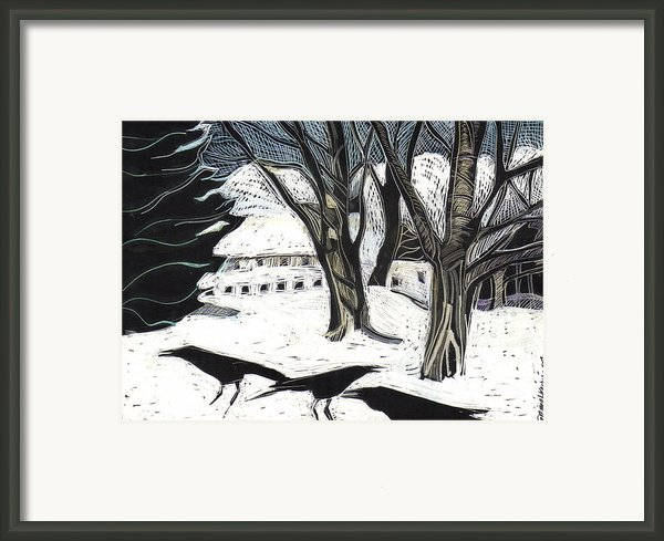 Snow Noise Framed Print By Grace Keown