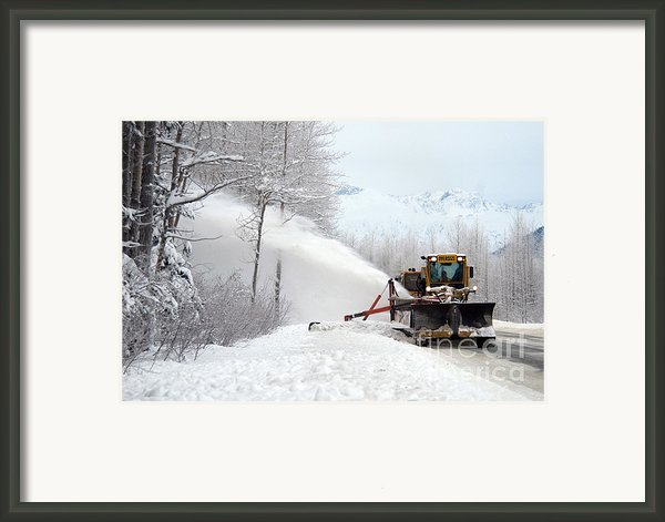 Snow Plow Framed Print By Mark Newman