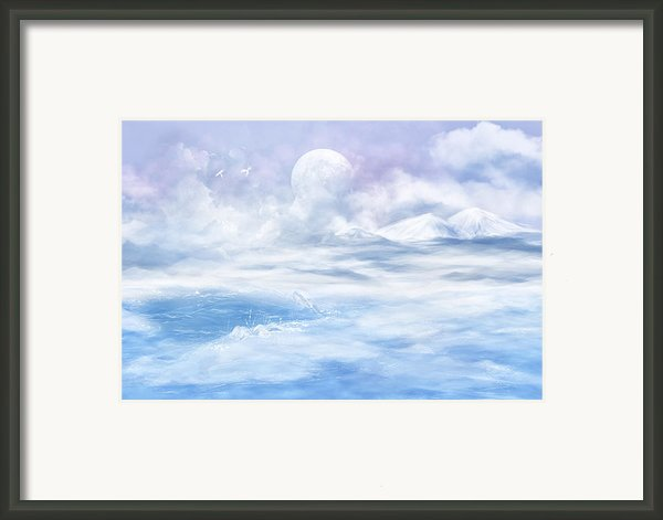Snow Valley Framed Print By Nika Lerman
