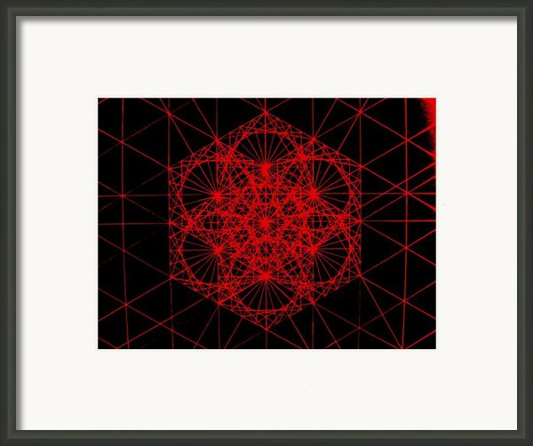 Snowflake Shape Comes From Frequency And Mass Framed Print By Jason Padgett