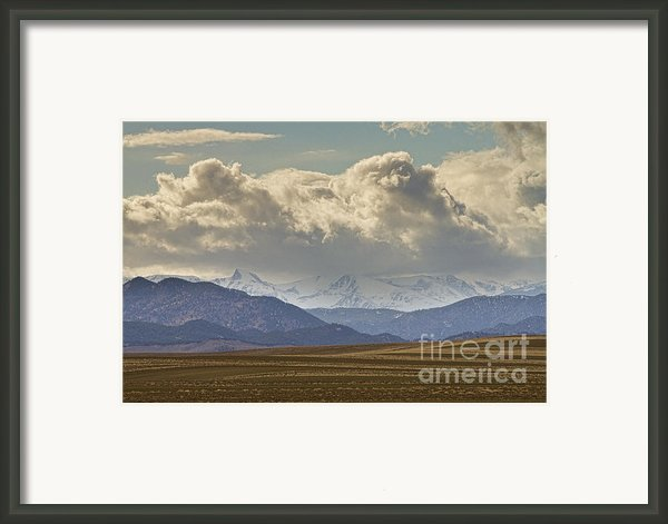 Snowy Rocky Mountains County View Framed Print By James Bo  Insogna