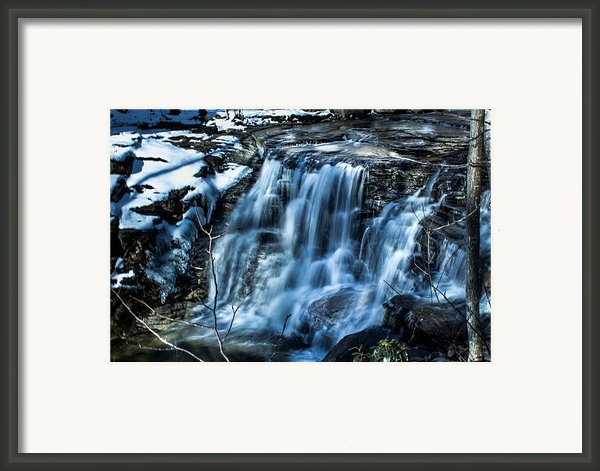 Snowy Waterfall Framed Print By Jahred Klahre