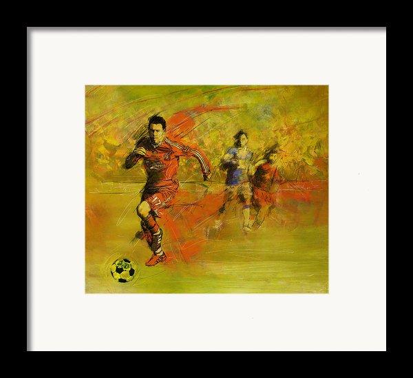 Soccer  Framed Print By Corporate Art Task Force