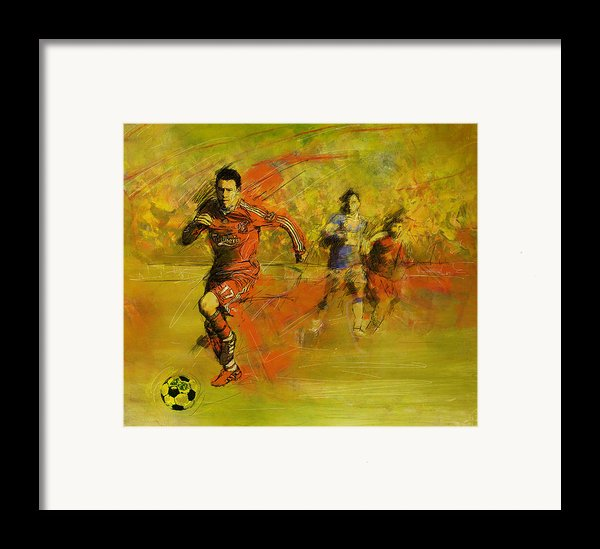 Soccer  Framed Print By Corporate Art Task Force