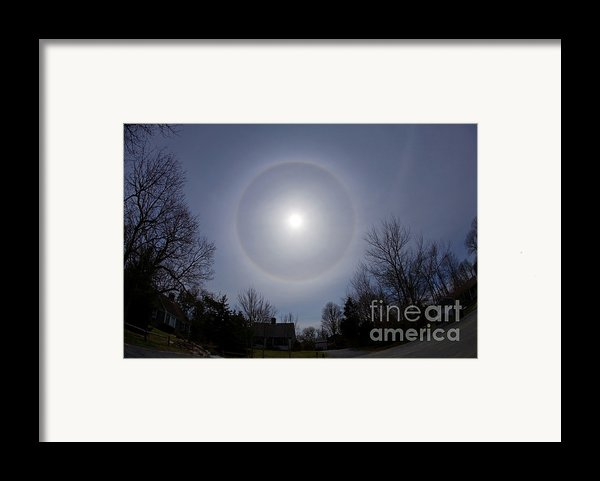 Solar Halo Framed Print By Chris Cook