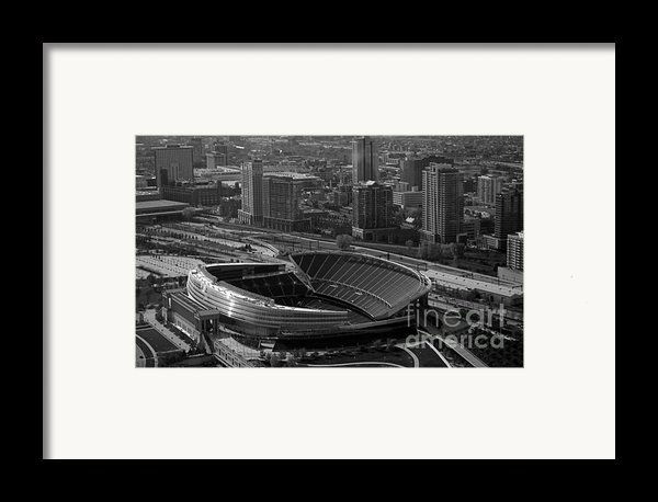 Soldier Field Chicago Sports 05 Black And White Framed Print By Thomas Woolworth