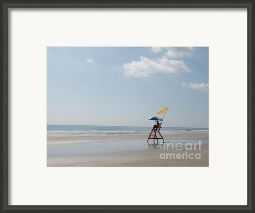 Solitary Watch Man Framed Print By Audrey Peaty