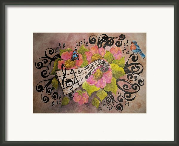 Song Of My Heart And Soul Framed Print By Meldra Driscoll