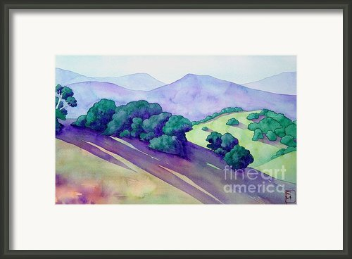 Sonoma Hills Framed Print By Robert Hooper