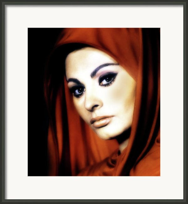 Sophia Loren Framed Print By Zeana Romanovna