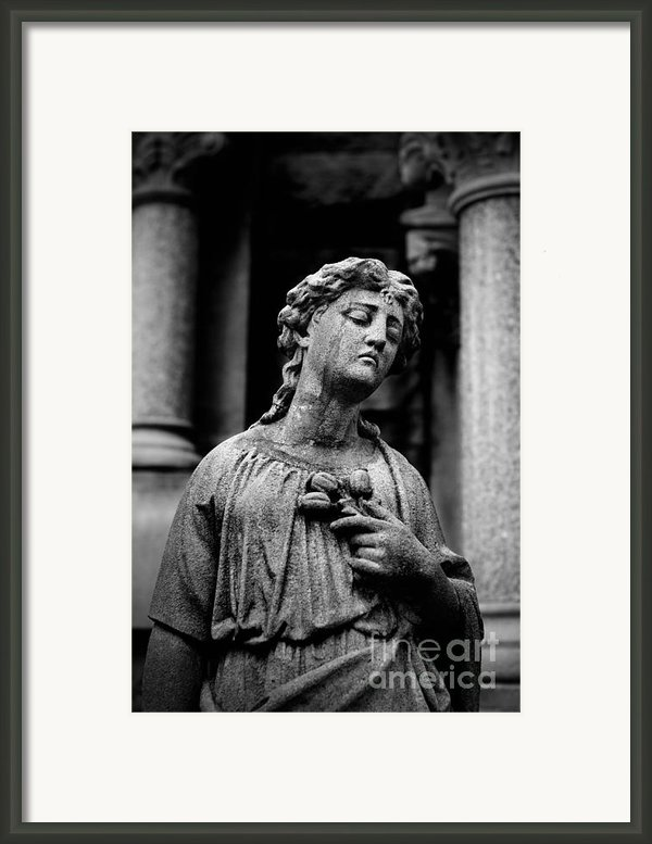 Sorrow Allegheny Cemetery Pittsburgh  Framed Print By Amy Cicconi