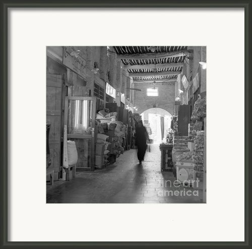 Souq Waqif Arcades Framed Print By Paul Cowan