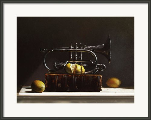 Sour Notes Framed Print By Larry Preston