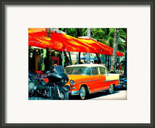 South Beach Flavour Framed Print By Karen Wiles