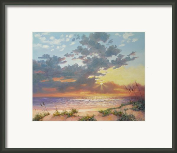 South Padre Island Splendor Framed Print By Carol Reynolds