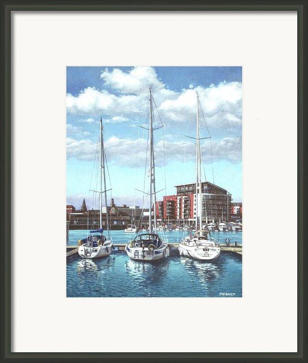 Southampton Ocean Village Marina Framed Print By Martin Davey