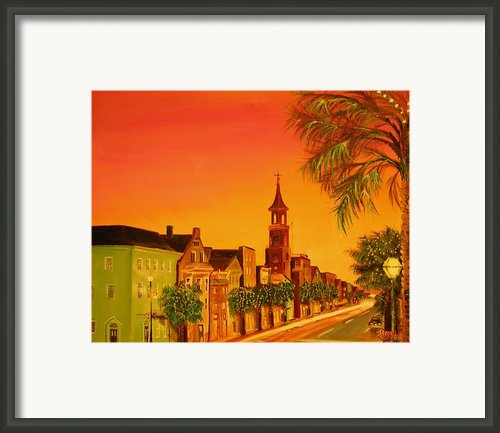 Southern Eve Framed Print By Barbara Hayes