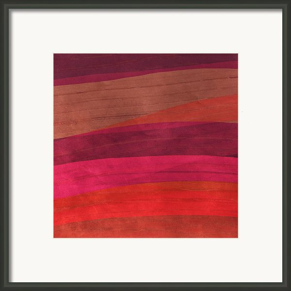 Southwestern Sunset Abstract Framed Print By Bonnie Bruno