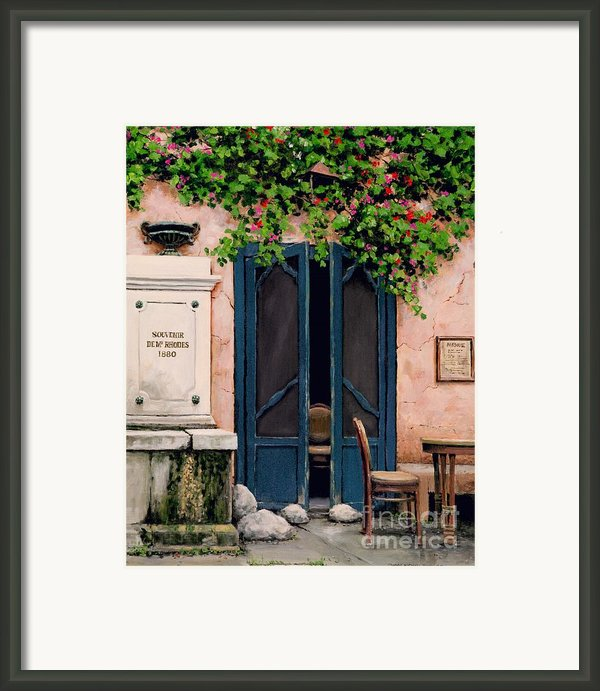 Souvenir De Mr. Rhodes Framed Print By Michael Swanson