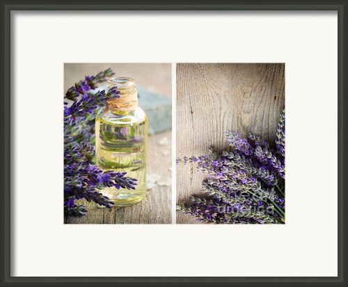 Spa With Lavender  Framed Print By Mythja  Photography