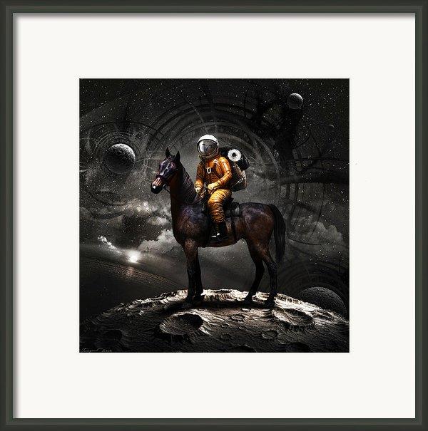 Space Tourist Framed Print By Vitaliy Gladkiy