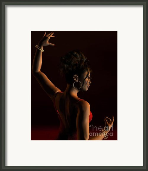 Spanish Flamenco Dancer - 1 Framed Print By Fairy Fantasies