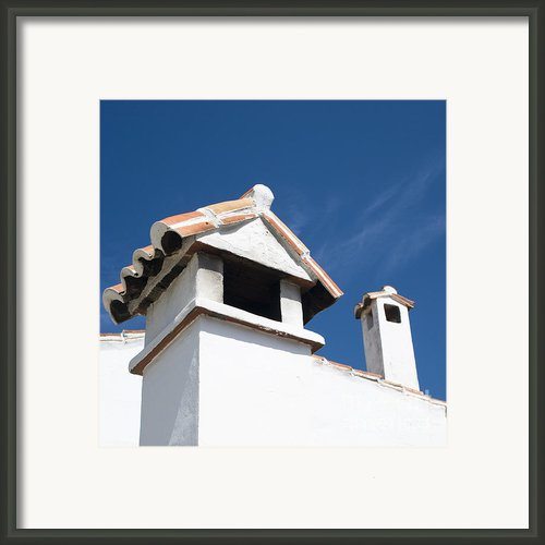 Spanish Rooftops Framed Print By Anne Gilbert