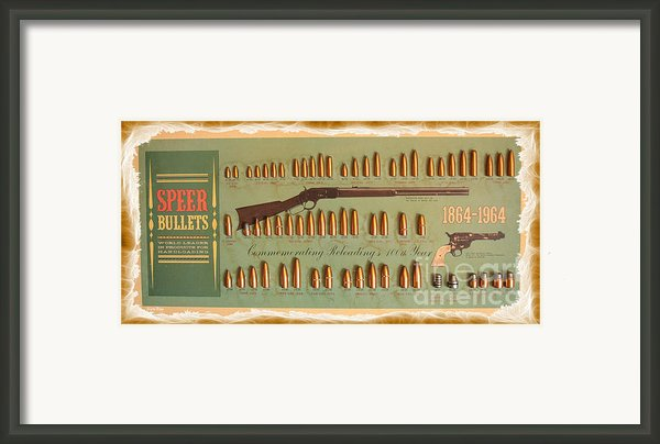 Speer Bullets Framed Print By Cheryl Young