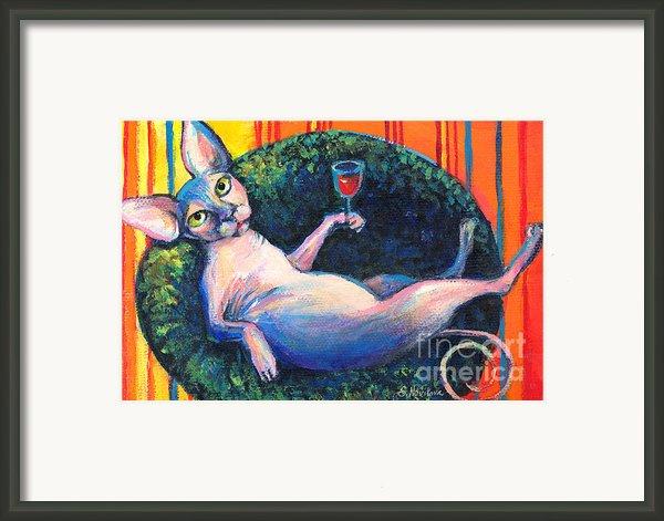 Sphynx Cat Relaxing Framed Print By Svetlana Novikova