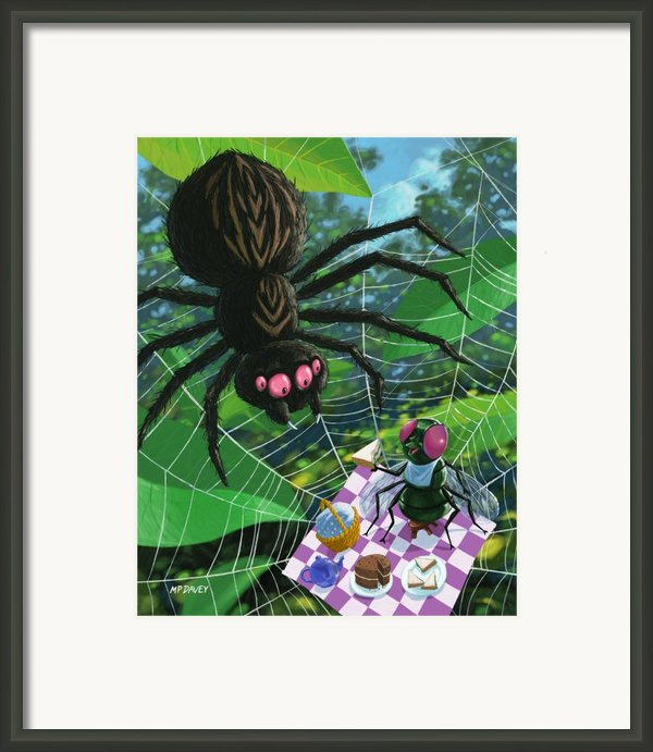 Spider Picnic Framed Print By Martin Davey