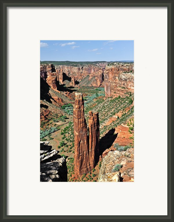 Spider Rock Canyon De Chelly Framed Print By Christine Till