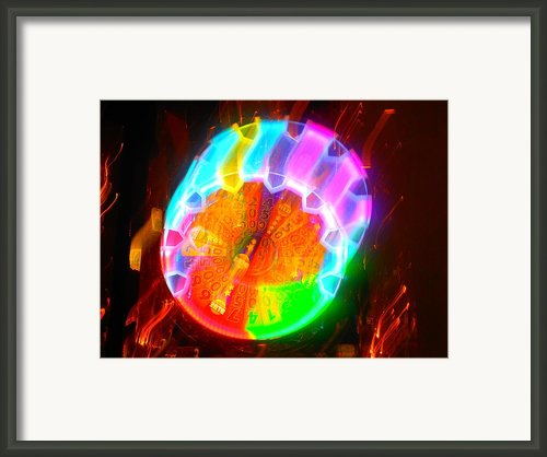 Spinning Orb In The Cosmos Framed Print By James Welch