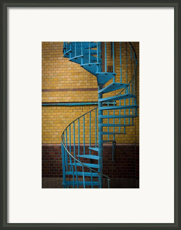 Spiral Staircase Framed Print By Inge Johnsson