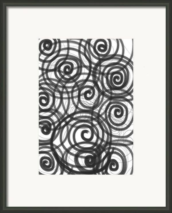 Spirals Of Love Framed Print By Daina White
