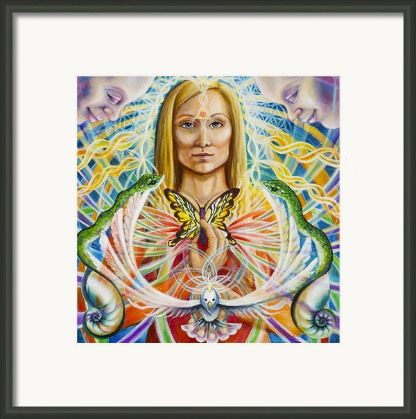 Spirit Portrait Framed Print By Morgan  Mandala Manley