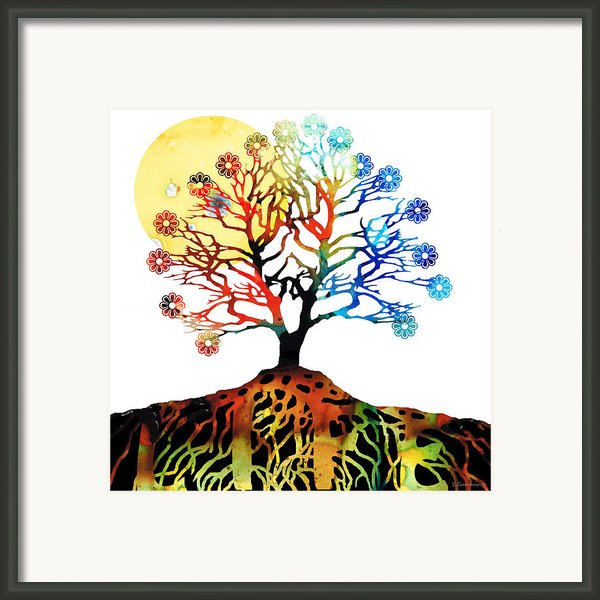 Spiritual Art - Tree Of Life Framed Print By Sharon Cummings