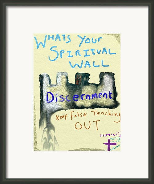 Spiritual Wall Framed Print By Michael Jordan
