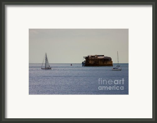 Spitbank Fort Martello Tower Framed Print By Terri  Waters