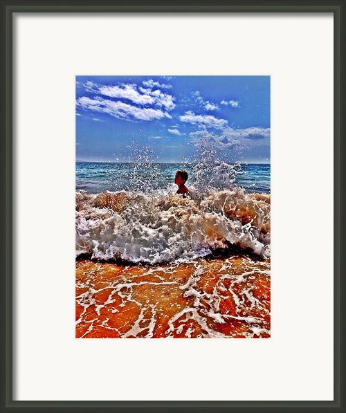 Splash Framed Print By Julianne Baltrus