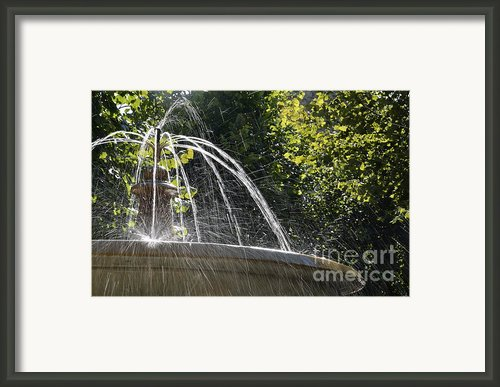 Splashing Water From Fountain Framed Print By Sami Sarkis