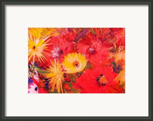 Splashy Floral Ii Framed Print By Anne-elizabeth Whiteway
