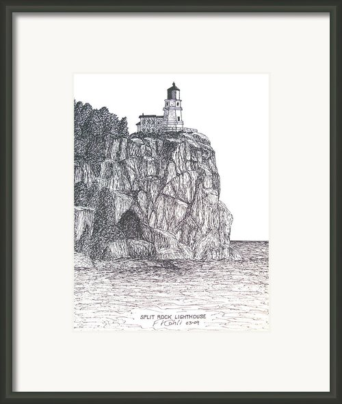 Split Rock Light Framed Print By Frederic Kohli