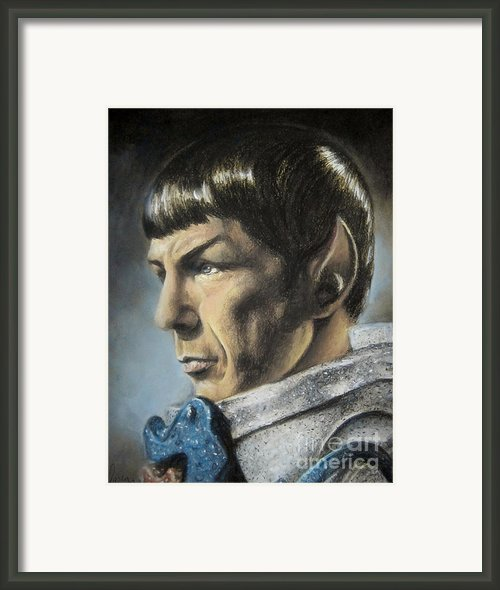 Spock - The Pain Of Loss Framed Print By Liz Molnar