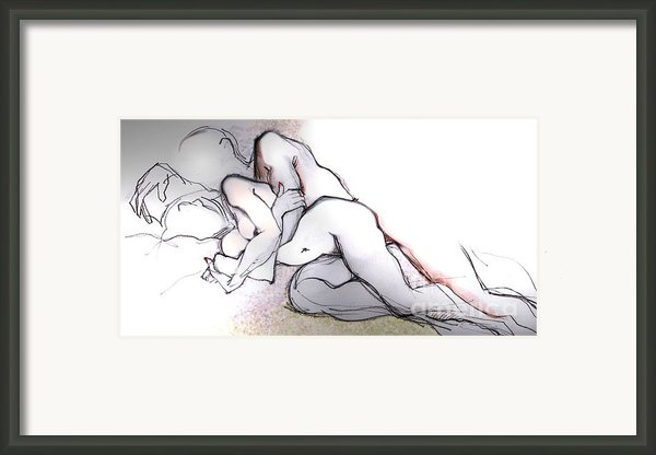 Spooning - Couples In Love Framed Print By Carolyn Weltman