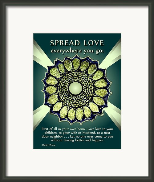 Spread Love 2 Framed Print By Patricia Howitt